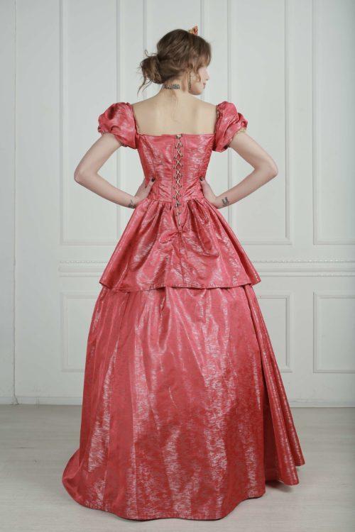 Бальное платье 19 века Терракотовое