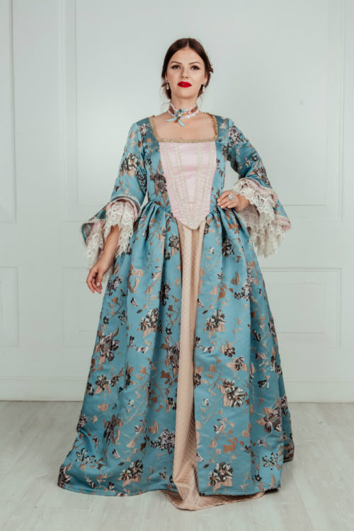 Платье 18 века голубое Рококо