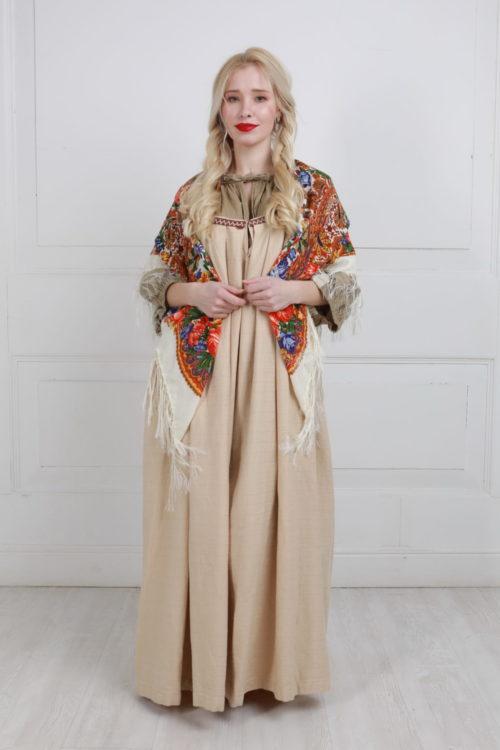 Русский народный льняной сарафан