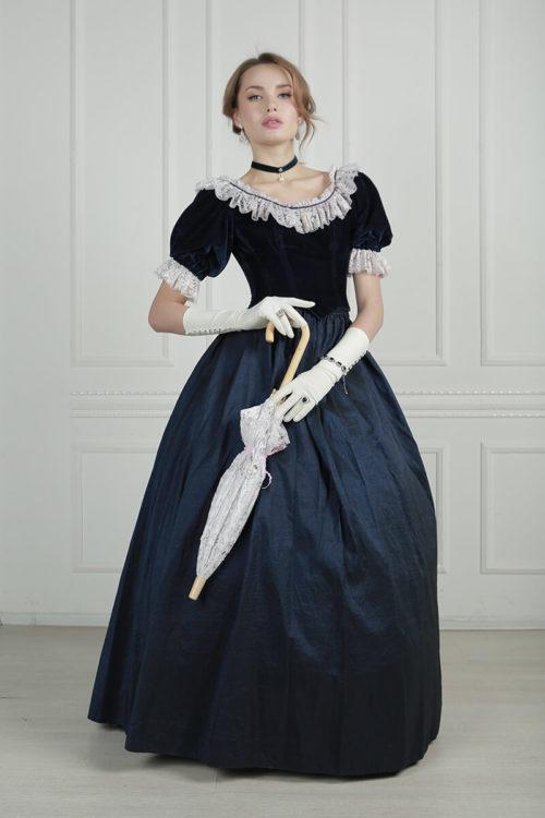 платья 19 века с кринолином