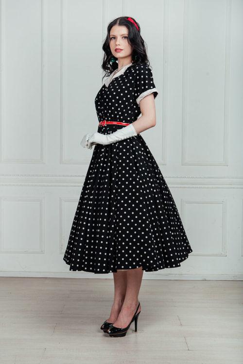ретро платье +в горошек