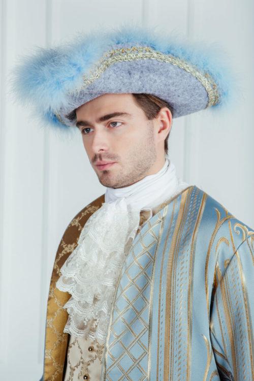 Исторический костюм 18 века голубой
