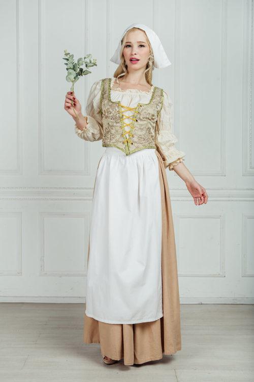 женские костюмы средневековья