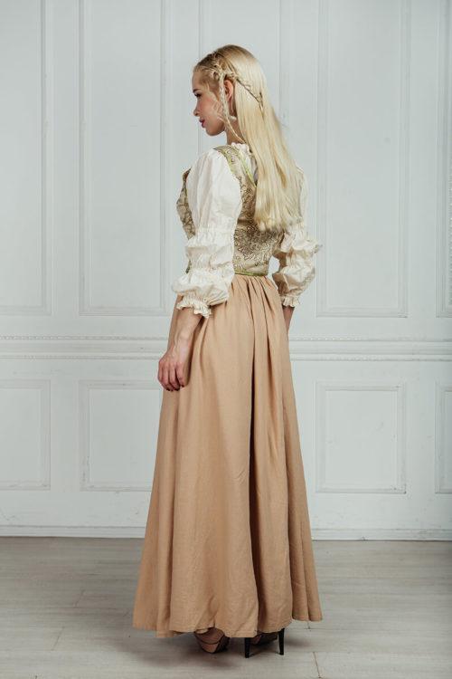 костюм средневековой девушки