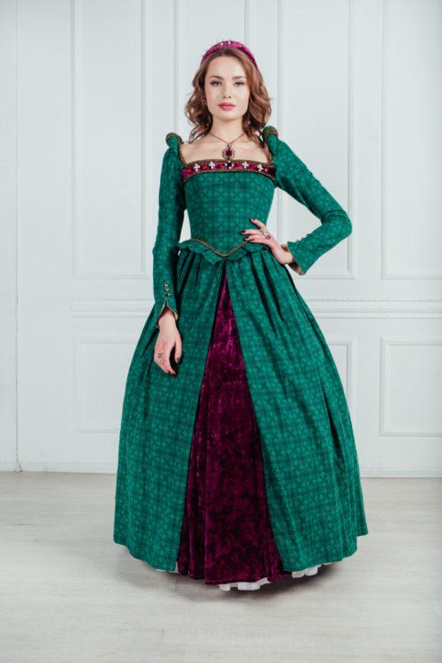 платье средневековой дамы