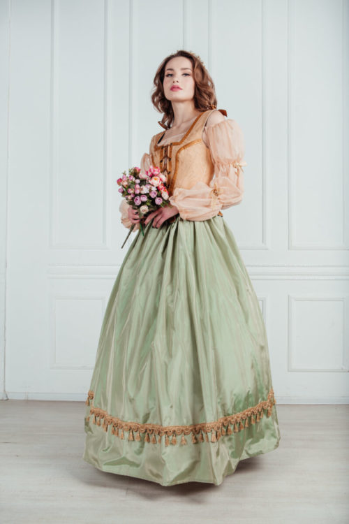 женский костюм ренессанс