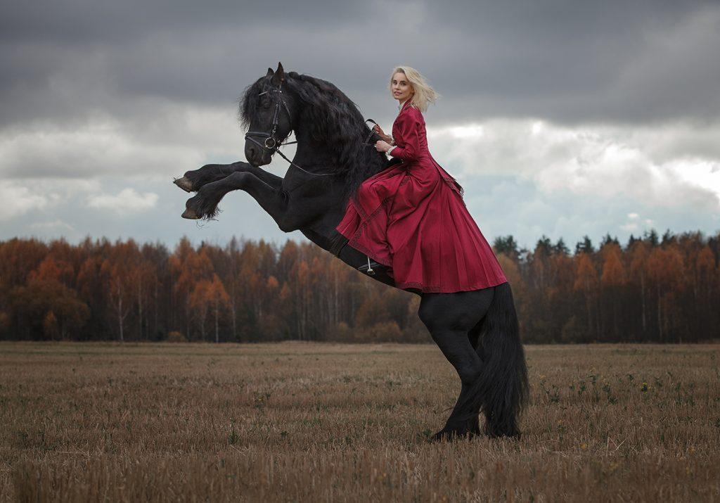 Фотосессия с лошадьми в платье : идеи и образы.