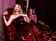 фотосессия в платье с пайетками