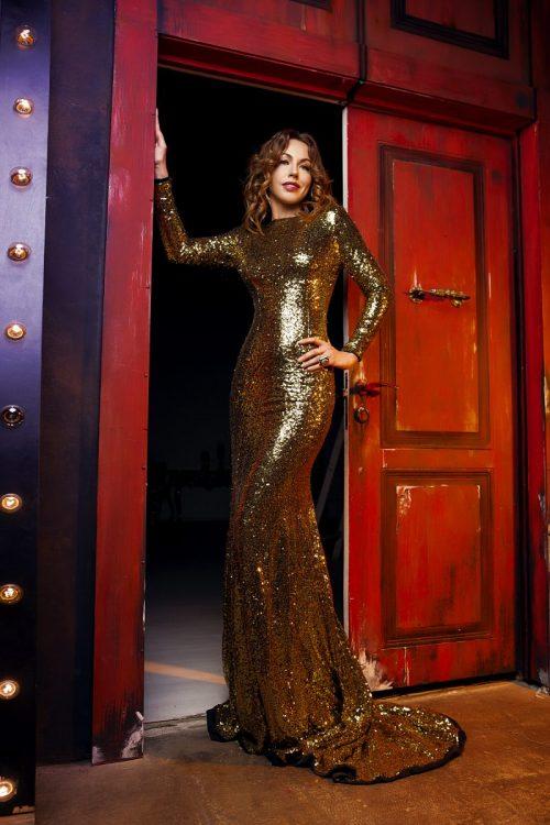 платье с пайетками аренда Москва