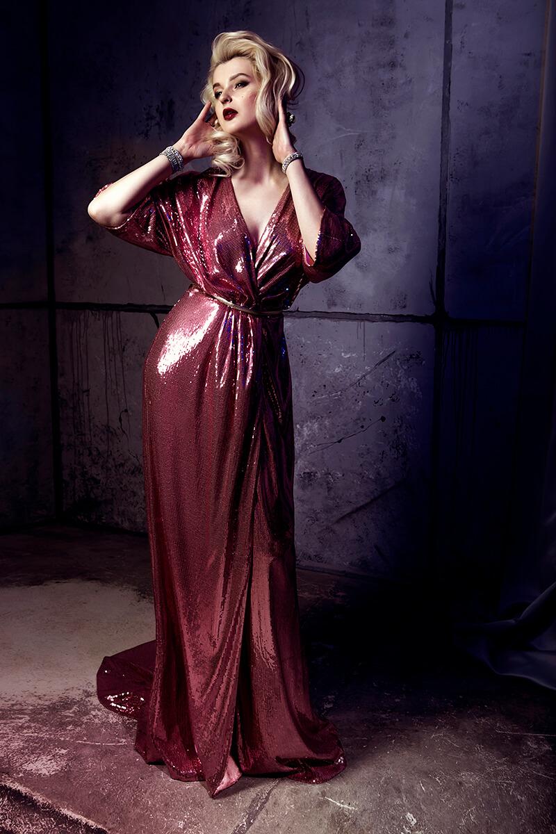 Фотосессия в вечернем платье