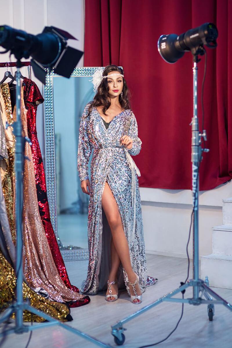 Фотосессия в вечерних платьях