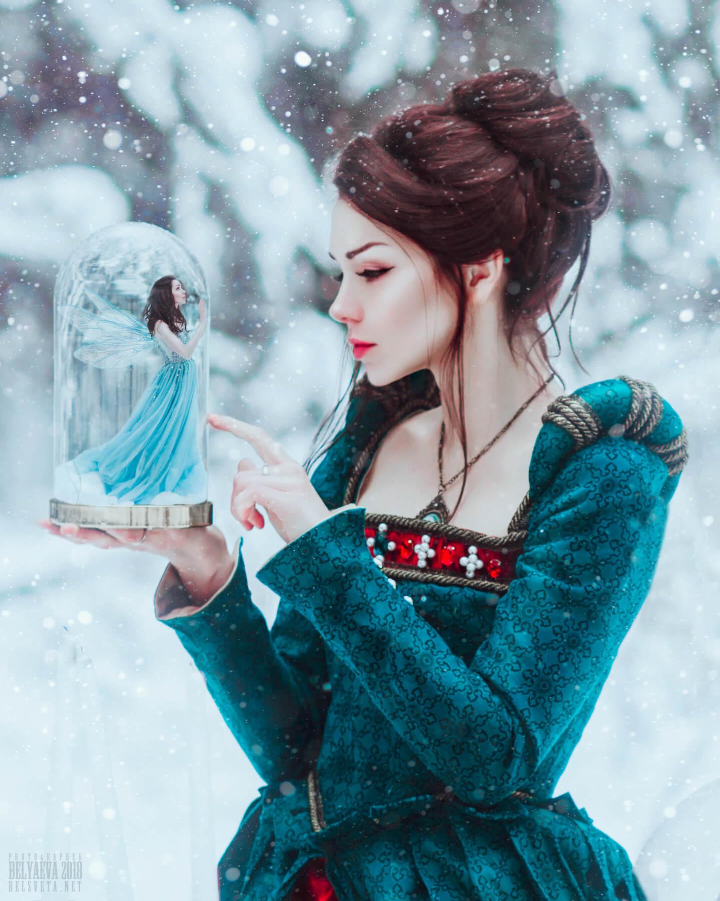 Сказочная фотосессия в зимнем лесу