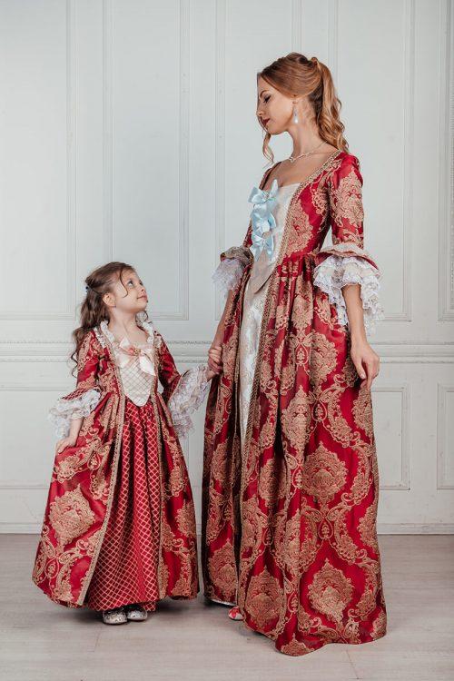 детское платье 18 века family look