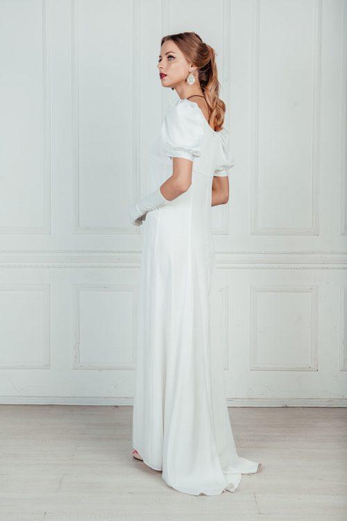 Белое платье ампир