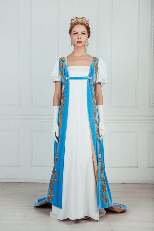 Платье ампир бальное