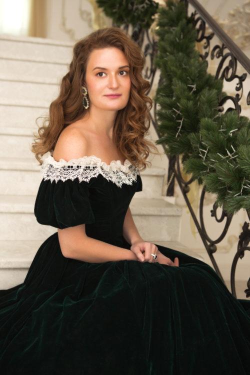 Платье 19 века бархатное