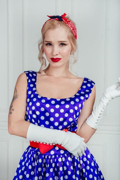 платья в горошек +в стиле стиляг