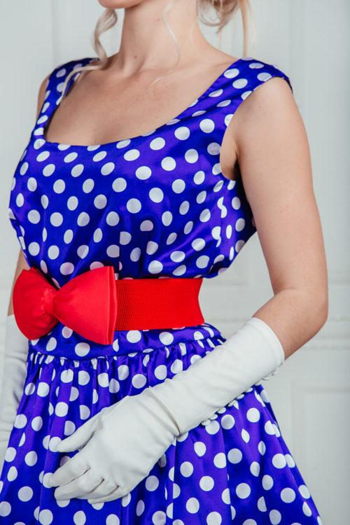 стиляги платье в горошек прокат