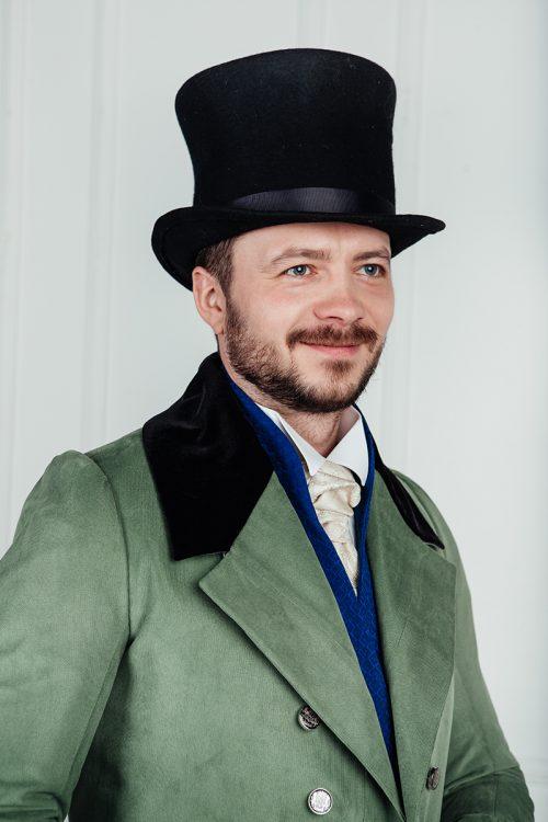 Цилиндр, английский костюм 19 века