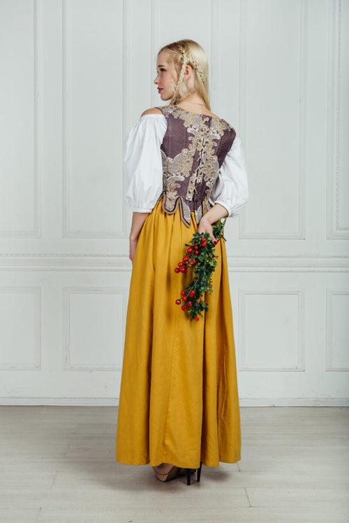 средневековый костюм горожанки