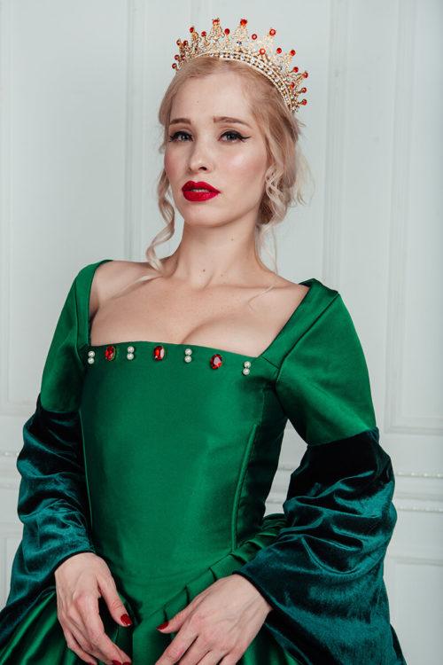 средневековое платье зеленое