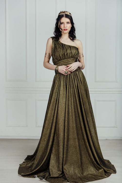 бронзовое платье