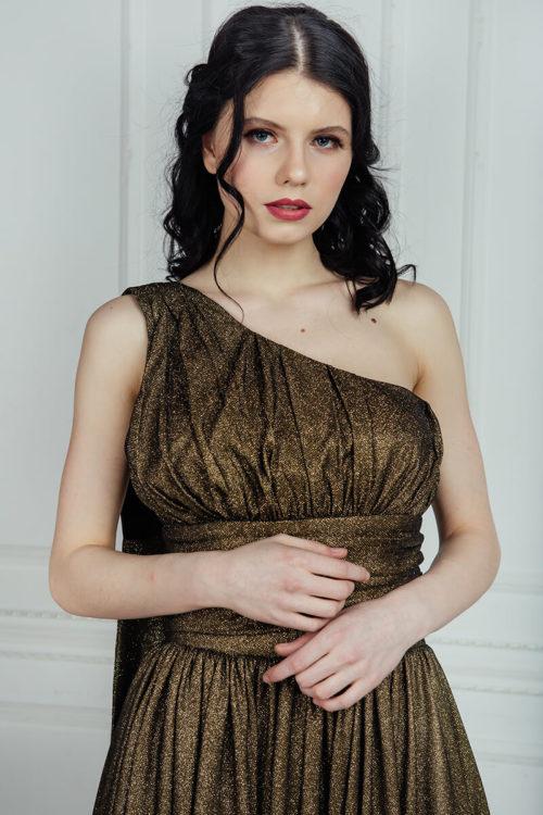 бронзовое платье в пол аренда