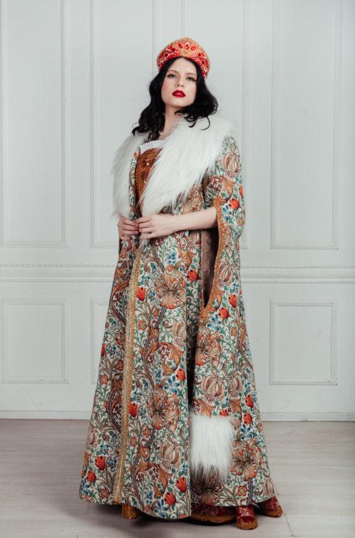 женская боярская шуба,аренда