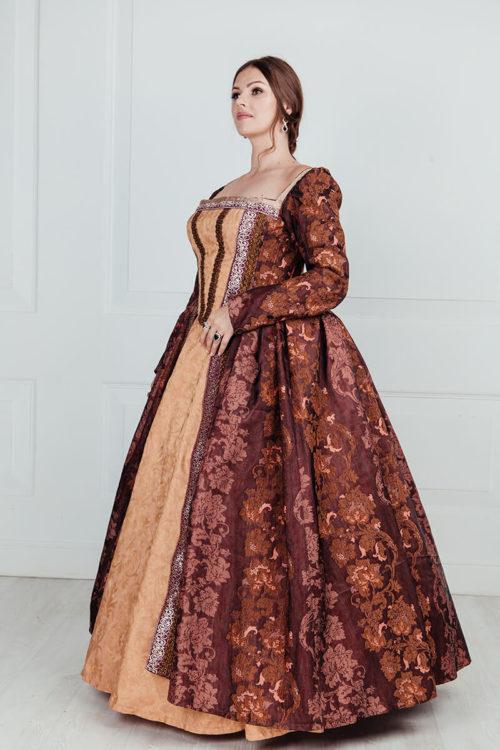 Пышное средневековое платье 16 век