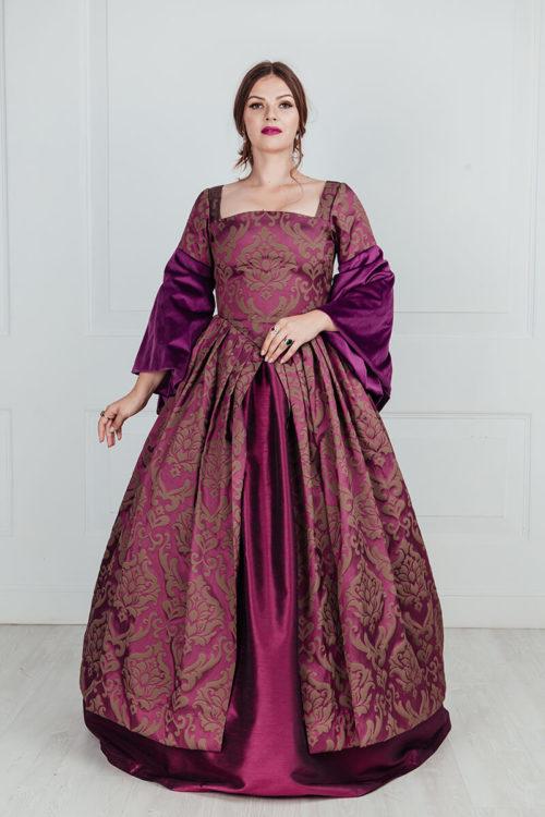 Платье средневековье бургунди TUDORS (16 век)