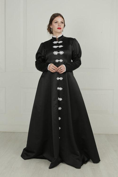 Готическое средневековое платье с пышной юбкой
