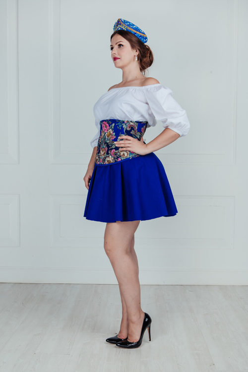 Костюм в русском стиле женский короткий большого размера