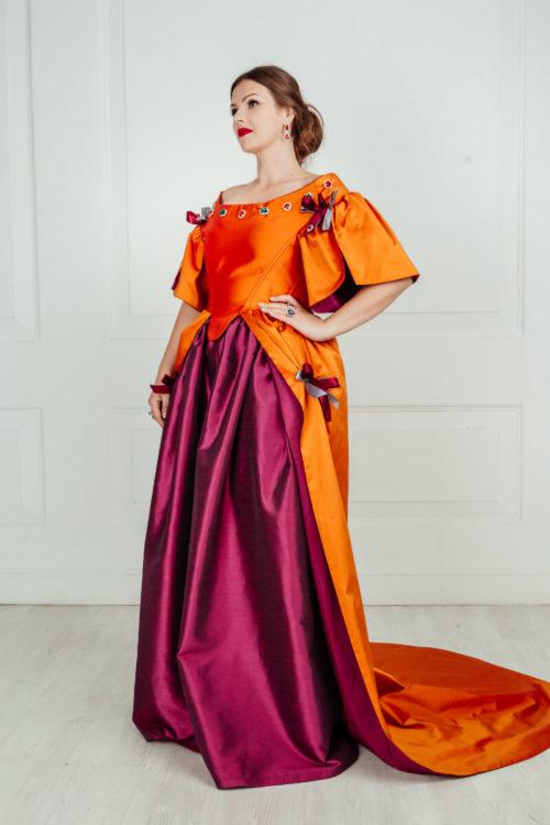 Платье 17 века 48 размера