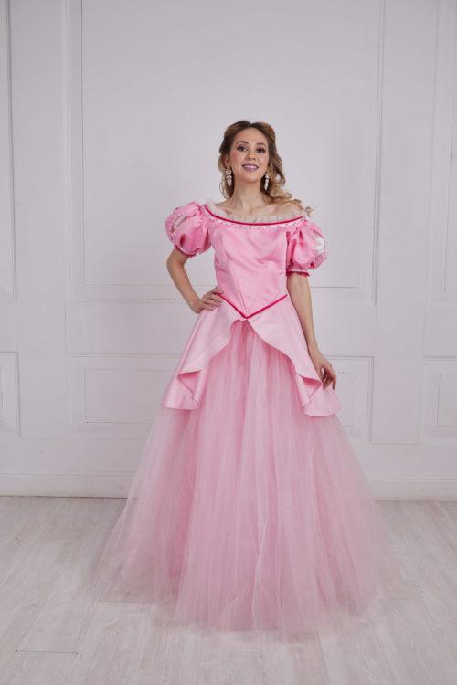 Ариэль розовое платье прокат премиум