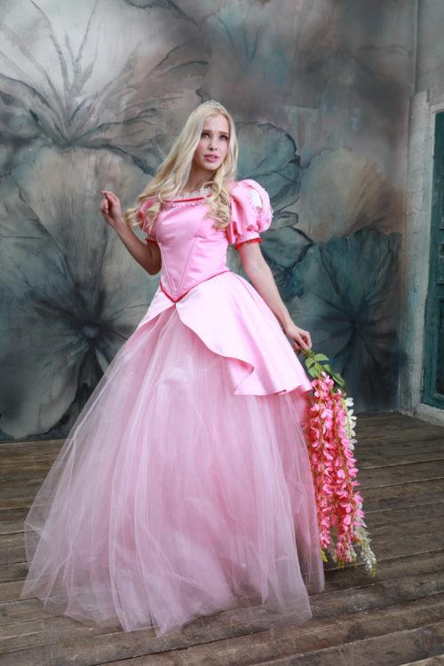 Ариэль розовое платье