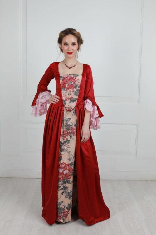 Платье 18 века LOUVRE красное