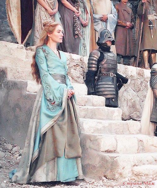 Бирюзовое платье Серсеи Ланнистер фото