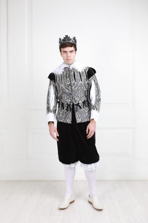 мужской костюм 17 века чёрный