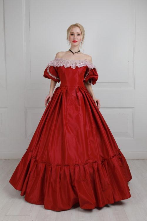 бальное платье 19 век большой размер