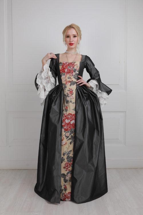 Платье 18 века серое прокат