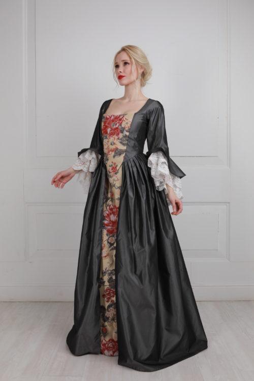 Платье 18 века серое