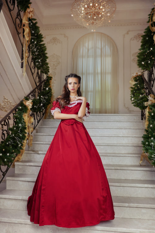 историческое бальное платье 19 века