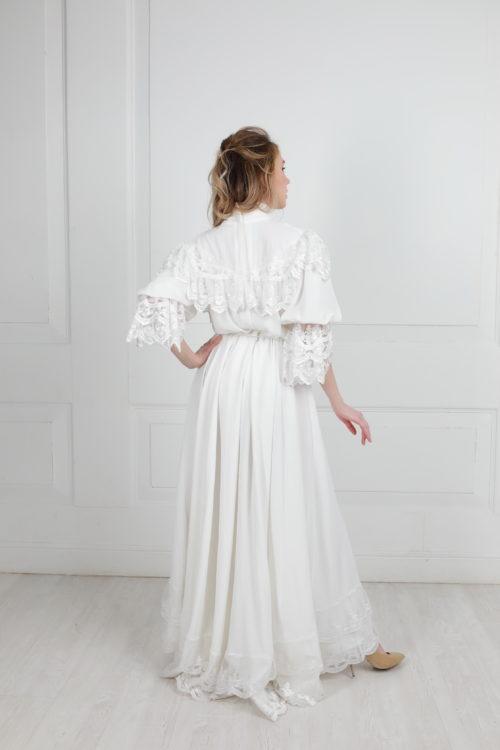 Белое платье модерн прокат