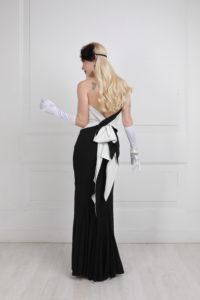 Чёрно-белое платье в стиле 20-х