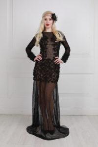 платье +с полупрозрачной юбкой
