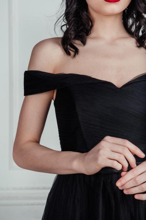 чёрное платье для фотосесси напрокат