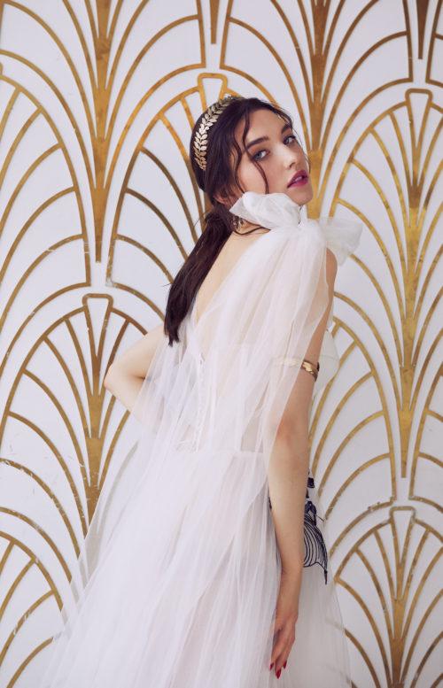 Белое платье из фатина прокат,