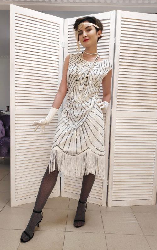 Платье чикаго с бахромой