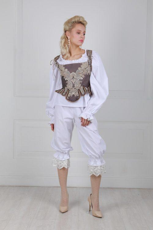 Панталоны длинные с кружевом