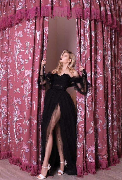 Черное платье фатиновое прокат